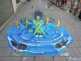 3d street painting how to draw