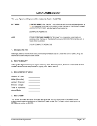 Personal Loan Agreement Template Microsoft Word Awesome 48 Loan Agreement Templates Excel PDF Formats