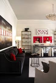 Modern Living Room Black And Red