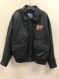 details about vintage chicago bears nfl pro player leather jacket size mens large black