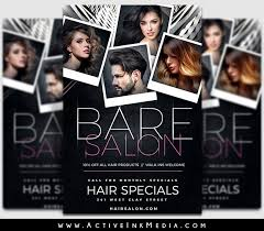 Hair Salon Flyer Templates Grey Hair Salon Beauty Stylist Flyer Template Active Ink Media Hair