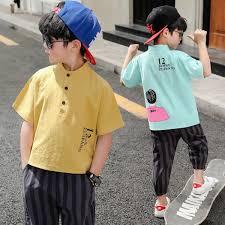 <b>Boys short</b>-<b>sleeved retro</b> suit <b>children's</b> wear 2019 <b>summer</b> new ...