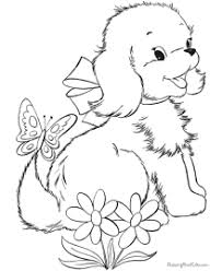 Pomeranian puppy coloring pages coloring for kids. Puppy Coloring Pages Free And Printable