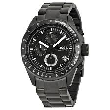 fossil chronograph black ion plated men s watch ch2601 decker fossil chronograph black ion plated men s watch ch2601