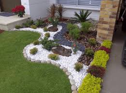 pebble garden front yard landscaping