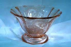 Paden City 1930 Lela Bird CheriGlo Pink Oval and 50 similar items