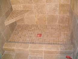 tumbled travertine tile shower.  Shower Shower With Filled Tumbled Travertine And Corner Seat Throughout Tumbled Travertine Tile A