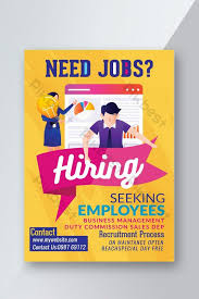 Flyer Jobs Need Job Ad Business Flyer Template Psd Free Download