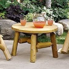 rustic garden furniture. Log Coffee \u0026 End Tables Rustic Garden Furniture