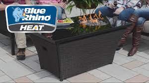 Rectangular Outdoor Fire Table Blue Rhino