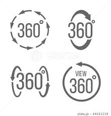 アイコン 度 360 ベクトルのイラスト素材 Pixta