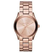 Michael Kors Watch Size Chart Details About Classy New Authentic Michael Kors Slim Rose Gold Tone Womens Wrist Watch Mk 3205