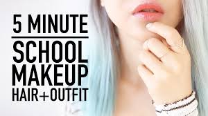 late for routine 5 minute makeup hairstyle clothes outfit tips back to wengie