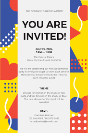invitation t free email party invitation template in ms word publisher