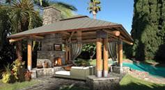 TimberScape  Outdoor Living  Log U0026 Timber StructuresOutdoor Great Room