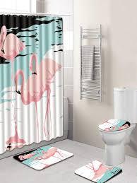 medium size of curtains ideas pcs bathroom accessories set flamingo pattern shower curtain