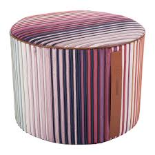 buy missoni home tunisi cylindrical pouf    amara