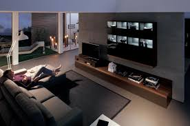 Modern Living Rooms Living Room Gray Recliners Brown Chairs Gray Sofa White Shelves