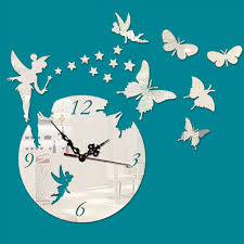 new creative art fashion acrylic large 3d butterfly wall clock modern design home decorative diy clock aliexpresscom buy office decoration diy wall