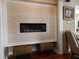 american hearth direct vent boulevard linear gas fireplace with custom wall and tile by rettinger fireplace