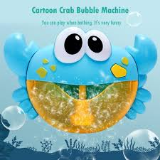 Plastic <b>Funny Music Crab Bubble</b> Blower Machine Electric Automatic ...