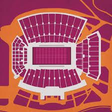 Lane Stadium Seating Chart Lane Stadium Map Art