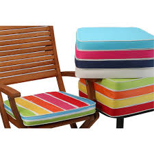 outdoor chair pads striped