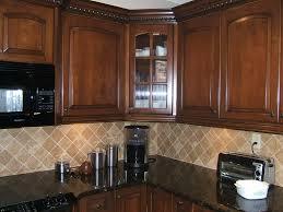 kitchen backsplash cherry cabinets black counter. Elegant Kitchen Backsplash Cherry Cabinets Black Counter Gorgeous A