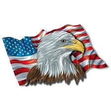 patriotic wall art ash the patriotic eagle metal wall art free today rustic