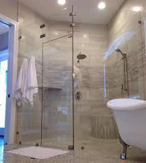 custom 3 8 inch neo angle shower door in cardinal shower smoke tinted glass