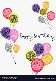 Balloon Birthday Card Design Happy Birthday Party Balloon Greeting Card Design