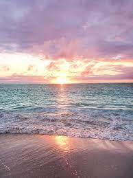 ocean aesthetic pink sunset wallpaper