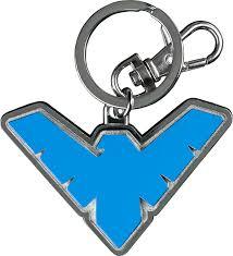 Nightwing Logo Keychain | DC Comics Logo Keychain | Popcultcha