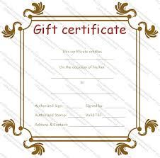 Custom Gift Certificate Templates Free Business Gift Certificate Templates