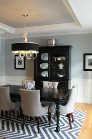dining room gray. pale blue dining room walls and ceiling with white wainscoting black accents what if i painted our table gray