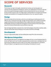 Website Design Proposal Template Web Design Proposal Sample Scope Of Services Web Design Proposal 5
