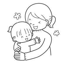 Disegno Con Mamma E Bambina Felici Per Festa Della Mamma Disegni