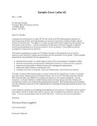 Sample Principal Cover Letter Sales Marketing Elementary Perfect