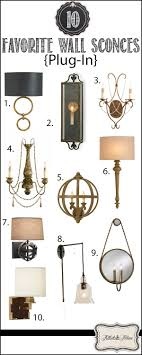top 10 favorite plug in wall sconces from tidbits twine