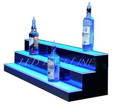 led bar shelves lighted bottle rack remote color changing australia