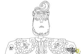 how to draw manolo from the book of life step 8