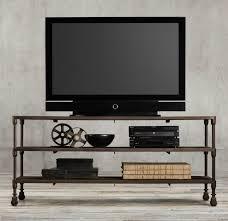 industrial media furniture. Image Of: Industrial Metal Media Console Furniture