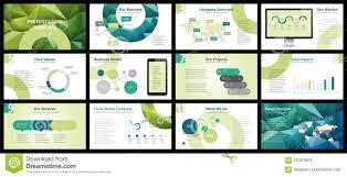 Presentation Flyers Business Presentation Templates Stock Vector Illustration