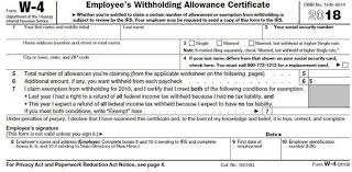 Payroll Tax Withholding Chart 2018 How To Fill Out A W 4 Form