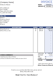 Template For Invoice For Services Service Invoices Barca Fontanacountryinn Com