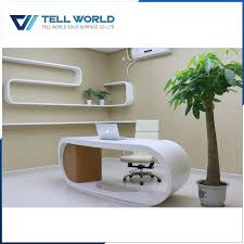 round office desks. High Glossy Elegant Design White Modern Round Office Table For CEO/BOSS/Manager Desks