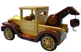 wooden toy model t tow truck
