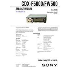 cdx for ioffer sony cdx f50m service manual by mauritron 238