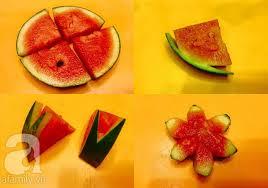 Chỉ với vài bước cắt tỉa trái cây đơn giản bạn đã có những đĩa quả