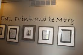 eat drink be merry wall decal